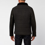 Jacob Holston // Keaton Leather Quilted Jacket // Charcoal Grey (M)