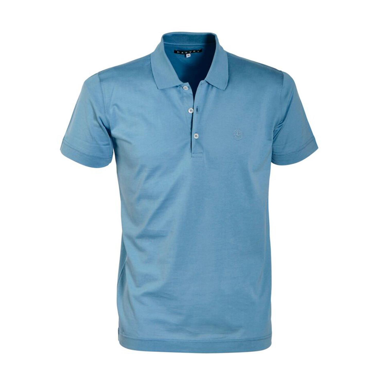 Jersey Knit Polo Shirt Sky Blue S Dalvey Touch Of