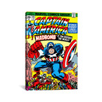 "Marvel Comic Book Captain America Issue Cover #193 (18""W x 26""H x 0.75""D)"