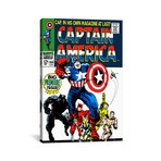 """Marvel Comic Book // Issue Cover #100 // Captain America (26""""W x 18""""H x 0.75""""D)"""