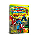 "Marvel Comic Book // Issue Cover #171 // Captain America + The Falcon (26""W x 18""H x 0.75""D)"