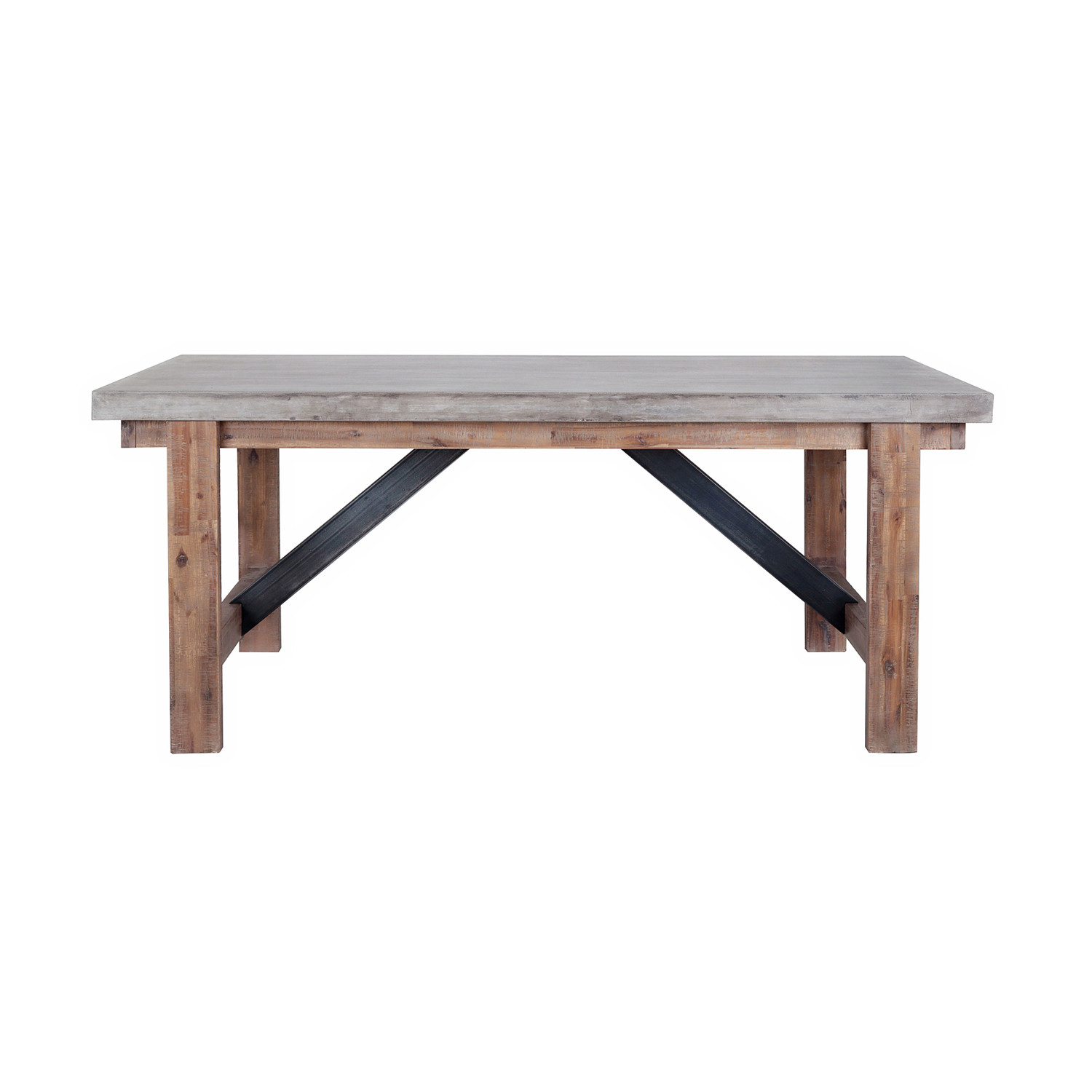 Concrete Top Dining Tables Vega Dining Table Concrete Top Furniture Maison Touch Of Modern