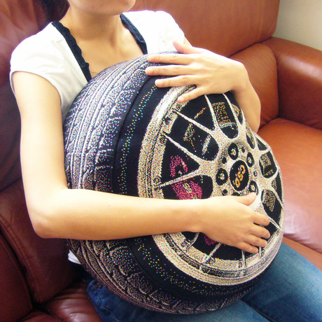 Luxury Car Wheel // Pillow
