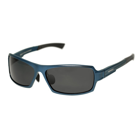 Cosmos Polarized Sunglasses (Blue Frame + Black Lens)