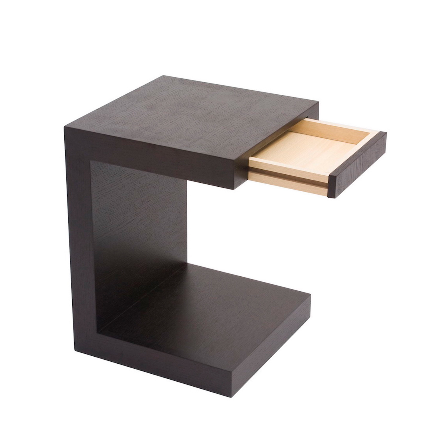 slide in side table walnut l 39 eclectique la touch of. Black Bedroom Furniture Sets. Home Design Ideas