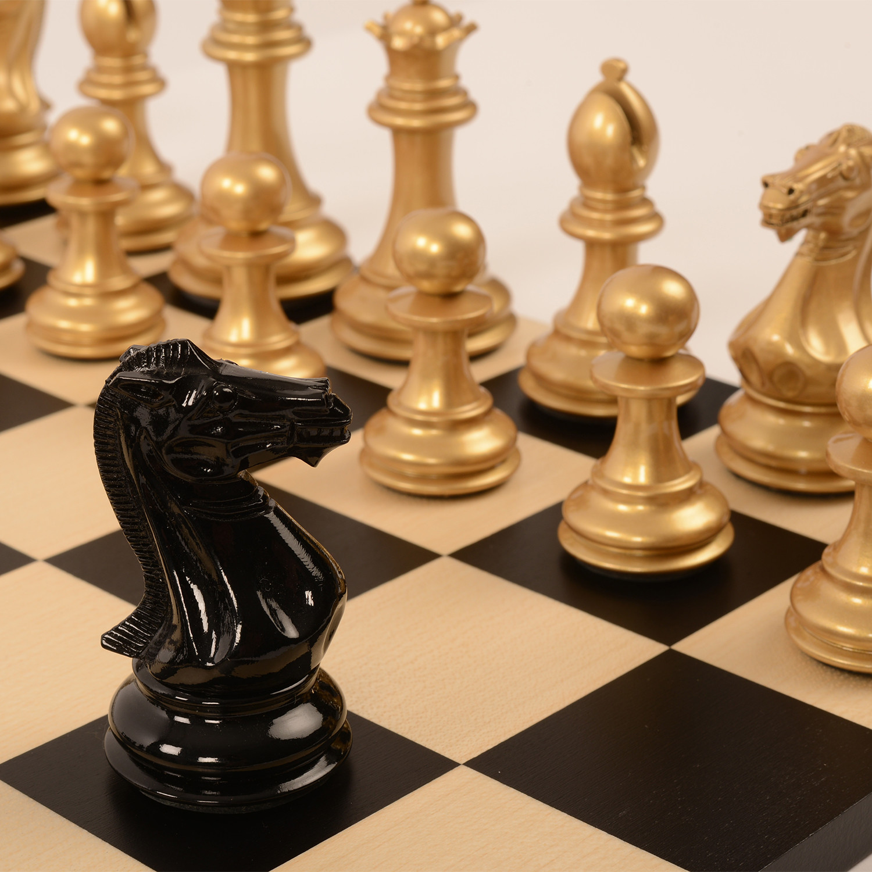 Bold Chess // Metallic Gold + Shadow Black