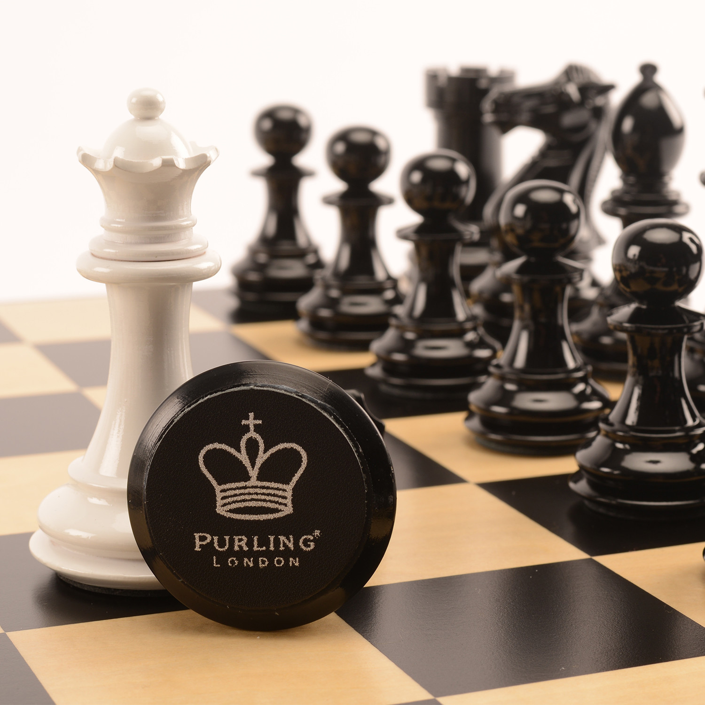 Bold Chess // Shadow Black + Gloss White