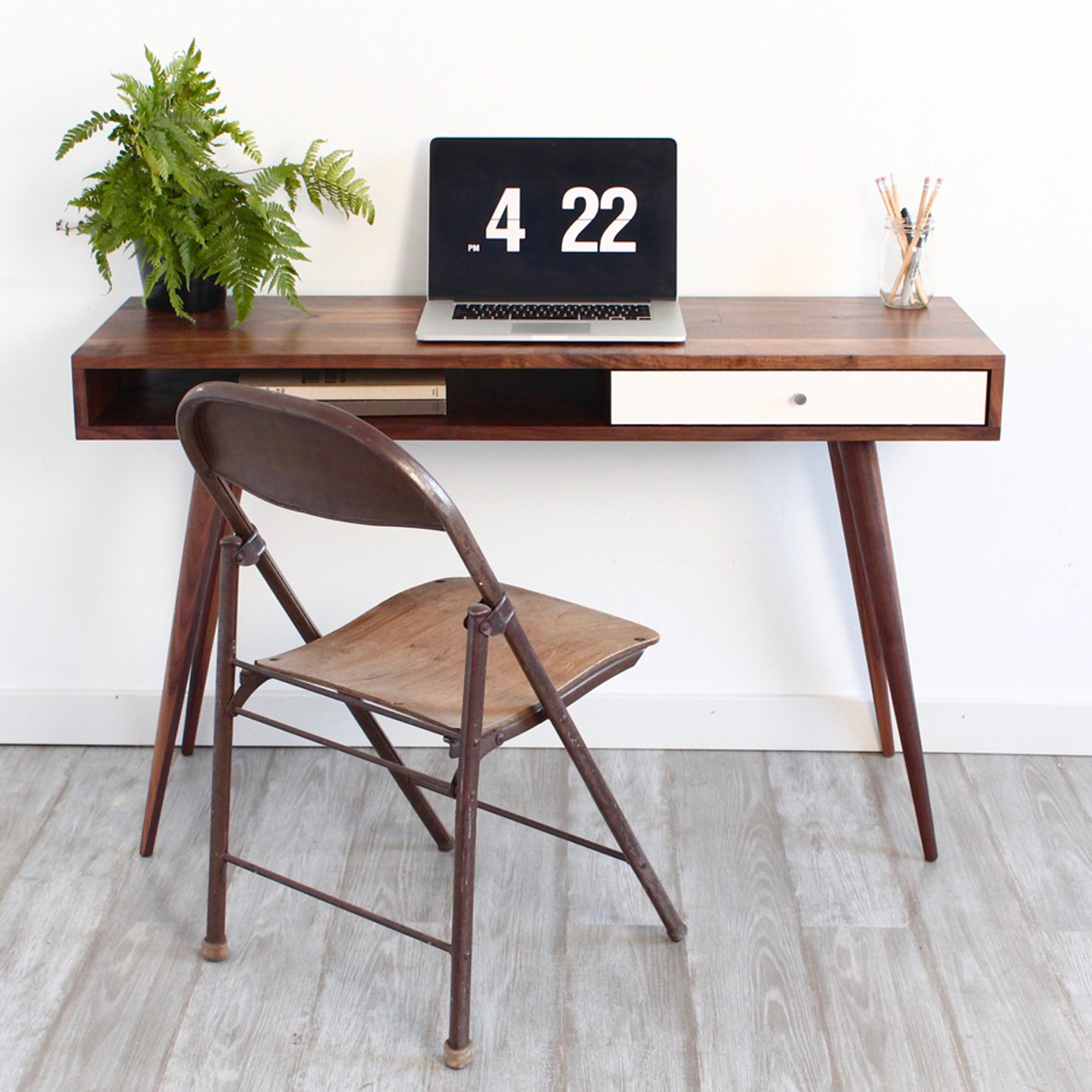 Image of: Mid Century Modern Laptop Desk The Jeremiah Collection Touch Of Modern
