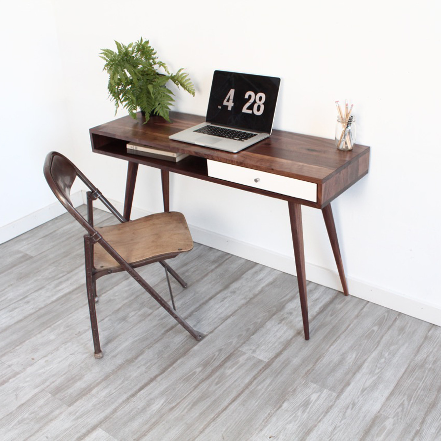 mid century modern laptop desk - the jeremiah collection - touch