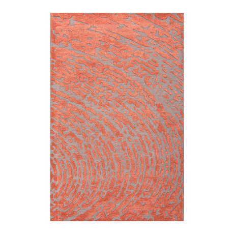 contemporary abstract pattern area rug red grey 2 39 x 3 39 jaipur rugs touch of modern. Black Bedroom Furniture Sets. Home Design Ideas