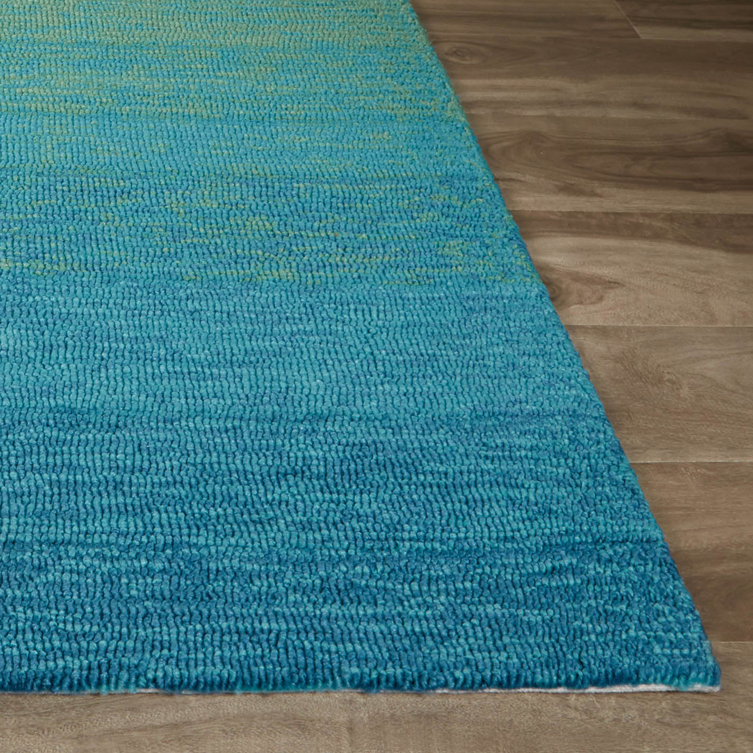 Abstract Pattern Area Rug // Blue + Green (7.6' X 9.6