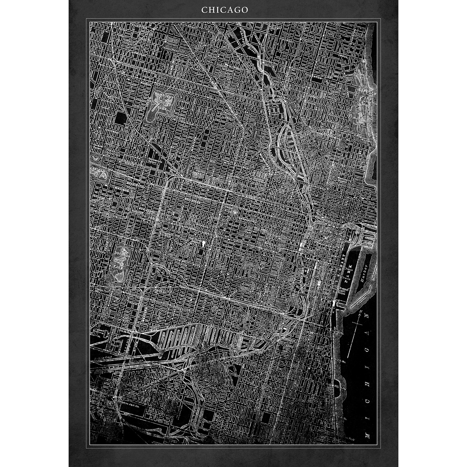 Chicago Map 20L x Chicago Map Chicago