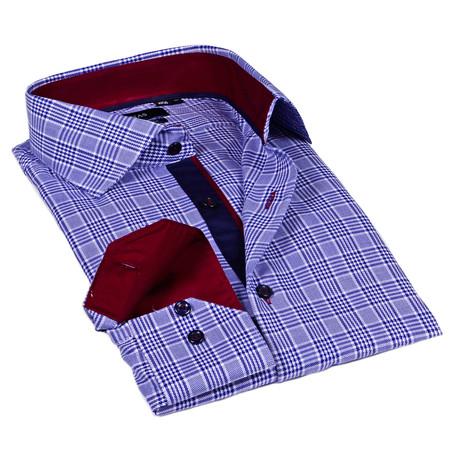 Plaid Dress Shirt // Navy