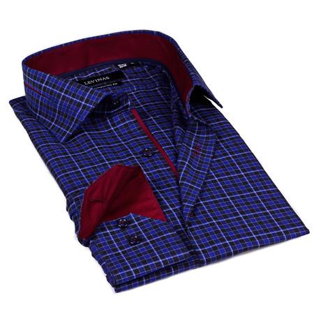 Classic Plaid Dress Shirt // Blue
