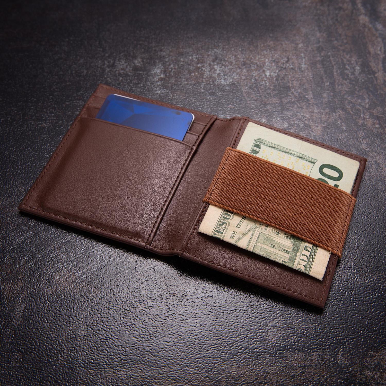 Minimalist Wallet // Brown (Embossed Logo)