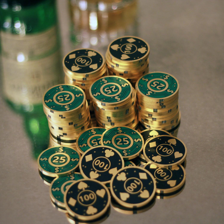 Gold poker set