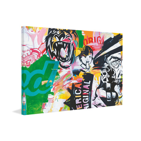 """Americas Painting Print on Wrapped Canvas (12""""W x 8""""H x 1.5""""D)"""