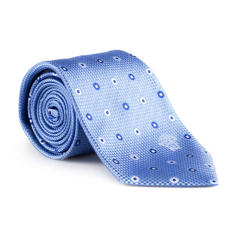 Atlas Silk Tie // Light Blue Dot
