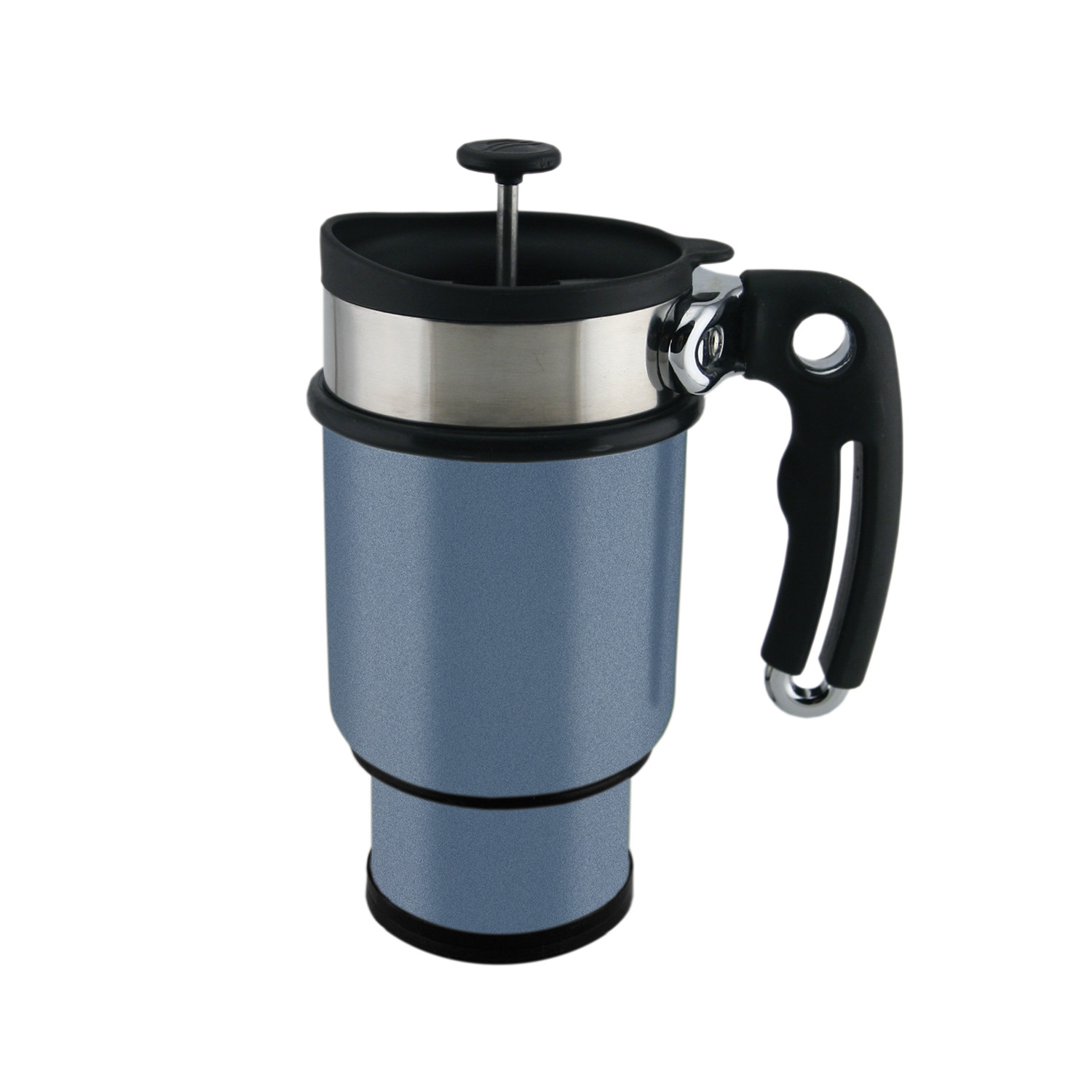 Double Shot French Press Mug 14oz Candy Apple Red