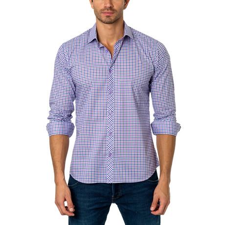OTT Button-Up // Purple + White Gingham (M)