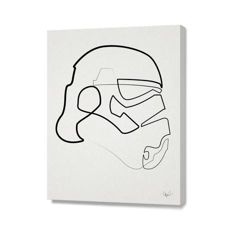 "One Line Storm Trooper (16""W x 24""H x 1.5""D)"