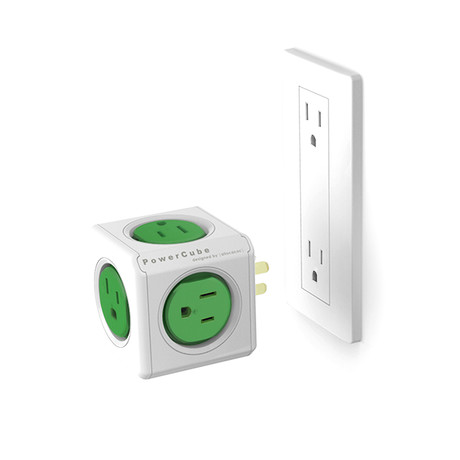 PowerCube Original 2.0 // 5 Outlets // Green