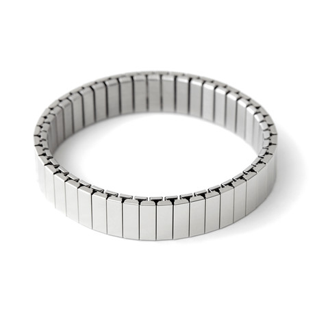 Stacking Apple Watch Bracelet // Shiny Silver (Small/Medium)