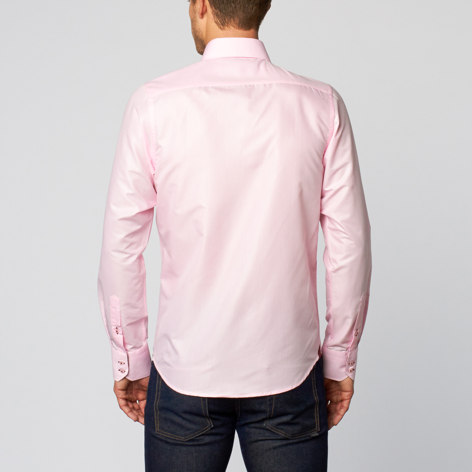 Palenzo button down shirt light pink s for Pastel pink button down shirt