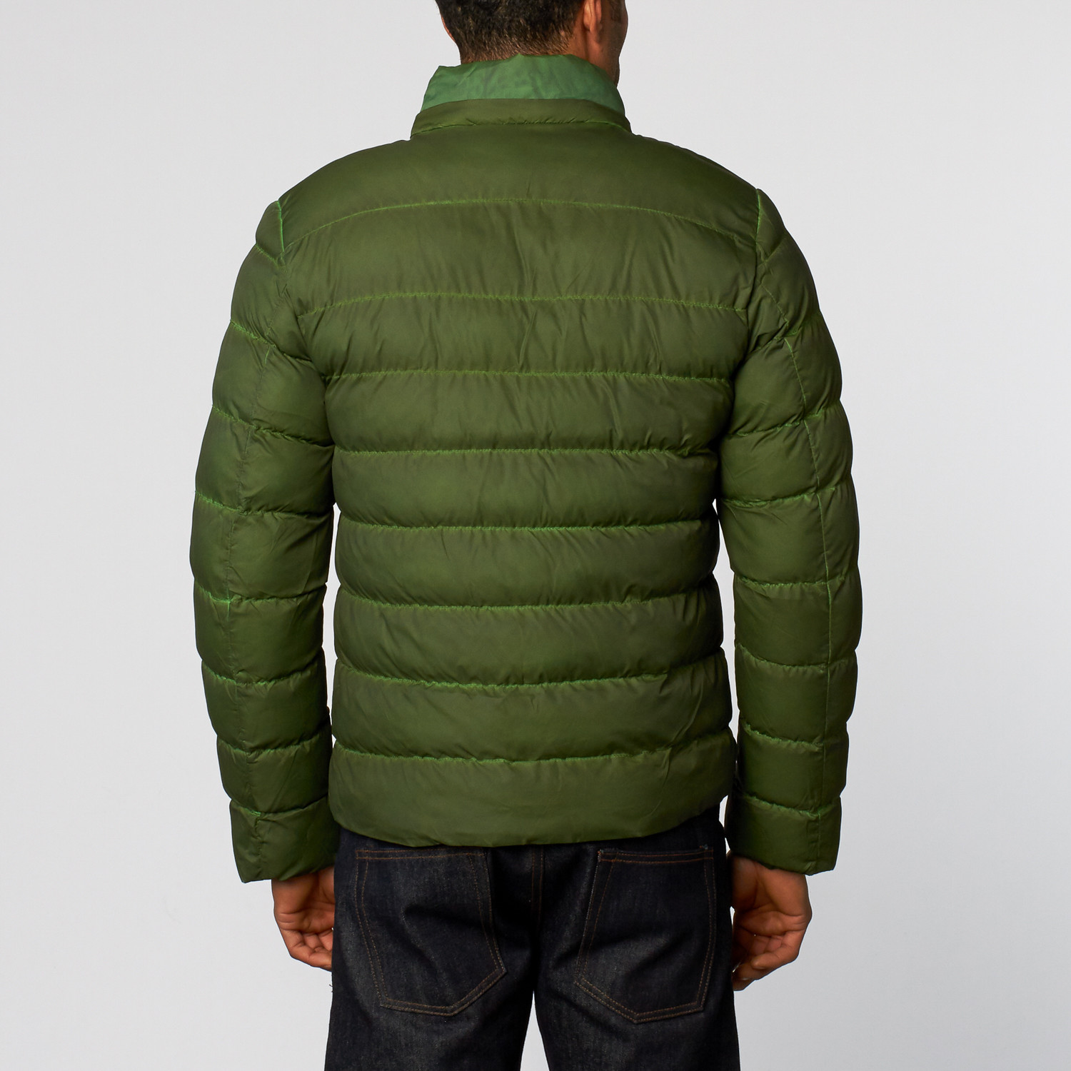 Padded Vintage Wash Jacket // Green (S)