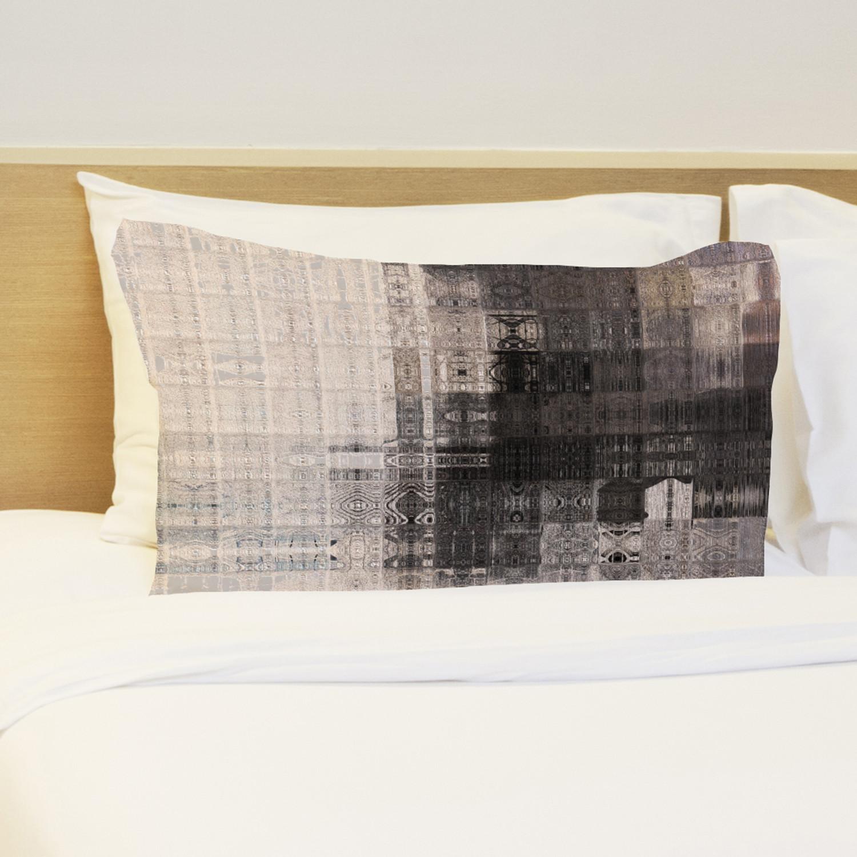 Tiled Monochrome Pillow Multi Tan Fleece One Bella Casa Touch Of Modern