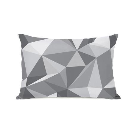 Kelsi Geometric Pillow // Gray