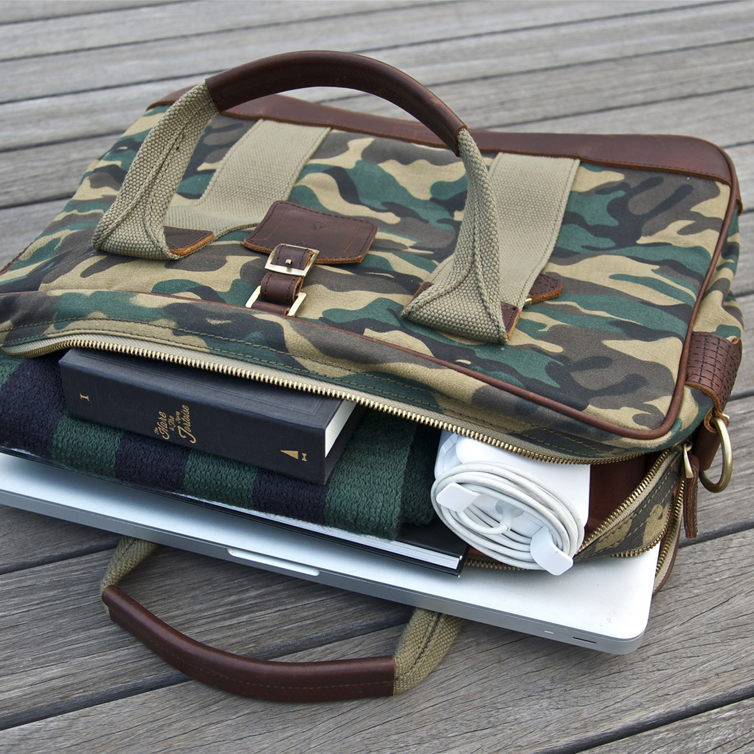 Aspen Briefcase Camo Gnome Amp Bow Touch Of Modern