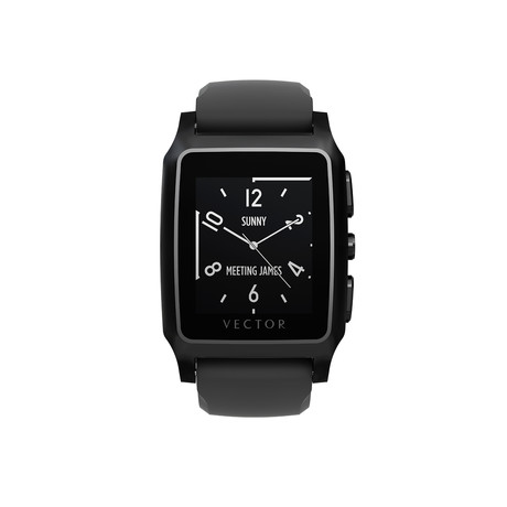 Meridian Performance Digital Smart Watch // Flat Black + Black Silicone Strap