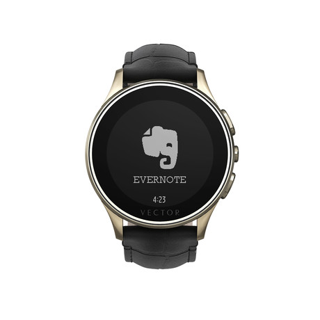Luna Classic Digital Smart Watch // Champagne Gold + Black Croco Strap (Small Fit)