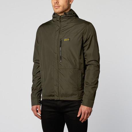 Michael Stars // Tech Nylon Hooded Snap Jacket // Camo (S)