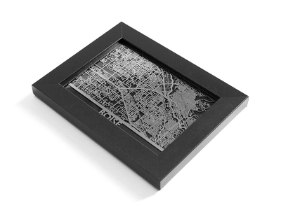 Photo of Cut Maps Stainless Steel Cities Boise by Touch Of Modern