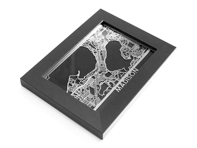 Cut Maps Stainless Steel Cities Madison by Touch Of Modern - Denver Outlet