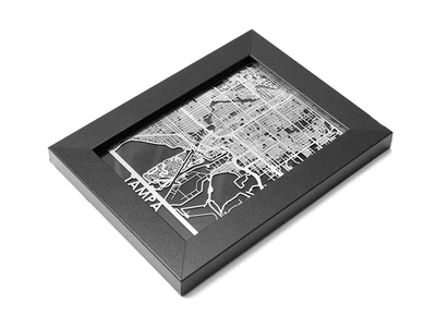 Cut Maps Stainless Steel Cities Tampa by Touch Of Modern - Denver Outlet