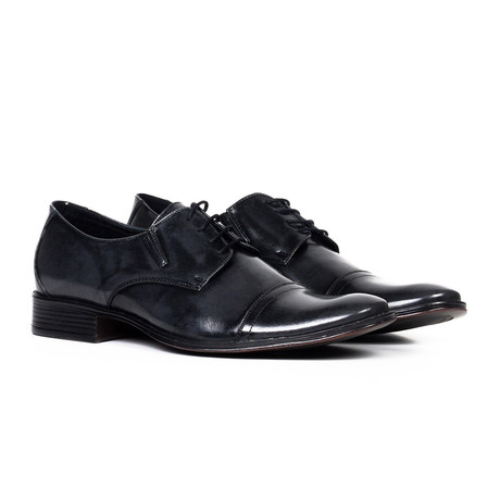 Classic Leather Oxford // Gloss Black