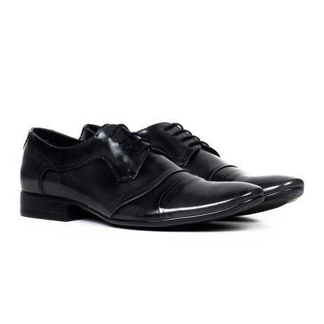 Classic Leather Captoe Derby // Gloss Black