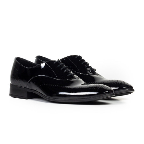 Leather Gloss Oxford Shoe // Black