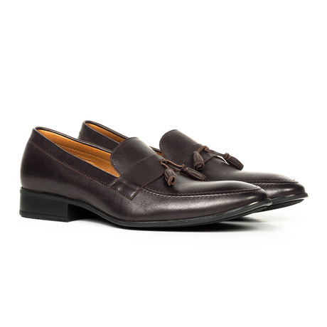 Leather Tassel Loafer // Brown