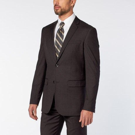 Slim-Fit 2-Piece Solid Suit // Charcoal (US: 36S)