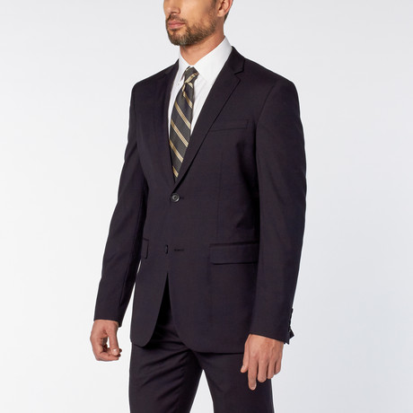 Slim-Fit 2-Piece Solid Suit // Navy (US: 36S)