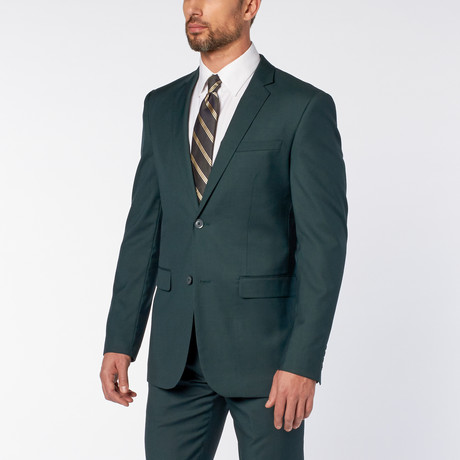 Slim-Fit 2-Piece Solid Suit // Teal Green (US: 36S)