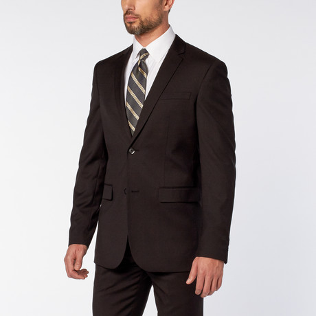 Slim-Fit 2-Piece Solid Suit // Black (US: 36S)
