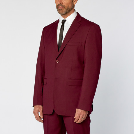 Classic Fit 2-Piece Solid Suit // OxBlood (US: 36S)