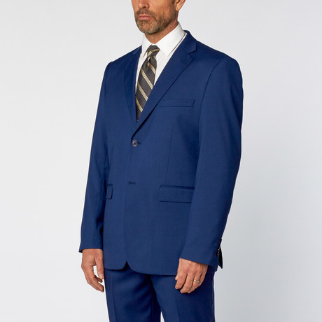Classic Fit 2-Piece Solid Suit // Indigo (US: 36S)