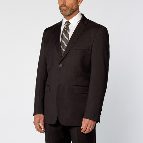 Classic Fit 2-Piece Solid Suit // Black (US: 36S)