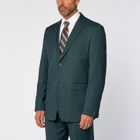 Classic Fit 2-Piece Solid Suit // Teal Green (US: 36S)